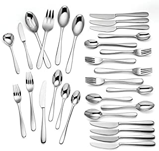 Lenox Haven 75 Piece 18/10 Stainless Flatware Set, Service for 8