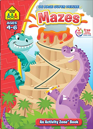 Compare Textbook Prices for School Zone - Mazes Workbook - 96 Pages, Ages 4 to 6, Preschool, Kindergarten, Mazes Puzzles, Wide Paths, Problem-Solving, and More School Zone Activity Zone Workbook Series Super Deluxe Edition ISBN 9781601591654 by School Zone,Joan Hoffman,Jennifer Neumann,Joe Kramer