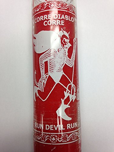 Run Devil Run Red Candle in Glass (Corre Diablo Corre) - Silk Screen
