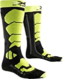 X-Socks Chaussettes de ski pour homme Control 2.0, Homme, X-SOCKS SKI CONTROL 2.0, Anthracite/Green Lime , 42/44