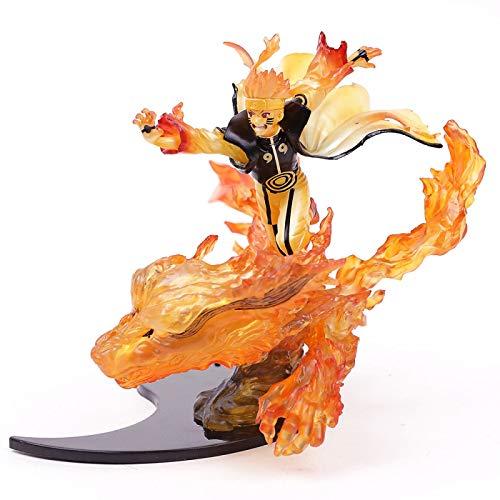 Qwead Naruto Shippuden Relation Naruto Uzumaki Kurama Chakura Mode PVC Figura De Acción Modelo De Juguete 22Cm