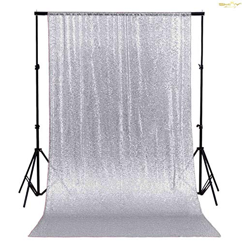 4FTx7FT Silver Sequin backdrops, Sequin Photo Booth Backdrop, Party backdrops, Wedding backdrops, Sparkling backdrops, Christmas Decoration