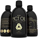 MCT Oil 500ml – Premium 100% Potency Pure C8 and C10 MCT Oil - Keto Diet Supplement - Perfect for Bulletproof Coffee - Boosts Ketones - Suitable for Paleo, Vegan & Low Carb Diet - UK Made