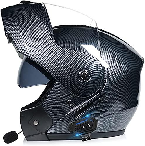 Cascos Modulares Con Bluetooth Para Motocicleta, Visera Antivaho Casco Con Bluetooth Abatible Para Motocicleta Casco De Moto Con Bluetooth Abatible De Cara Completa Aprobado Por ECE B2,M