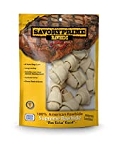 Savory Prime Small Bone Value Pack Dog Chewable Pet Treats White 4-5in 10Pk