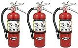 Amerex B500, 5lb ABC Dry Chemical Class A B C Fire Extinguisher (3, 7.25' W X 4.25' D X 15.25' H)