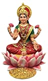 Pacific Trading Lakshmi Hindu Goddess on Lotus Statue Sculpture