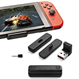 Bluetooth Adapter for Nintendo Switch/Switch Lite, with USB/Type C Connector, Dual-Stream Wireless Audio Transmitter Capable of Linking Bluetooth Headphone Airpods with APTX Low Latency