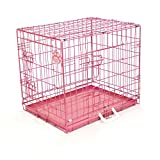 COZY PET Dog Cage 24' Black With Tailored Vet Bedding Metal Tray Folding Puppy Crate Cat Carrier Dog Crate. (We do not ship to the Channel Islands or The Isles of Scilly.)