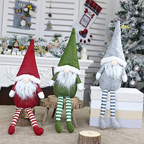 MaMaCha 3 Pack Christmas Wine Bottle Cover, Handmade Swedish Gnomes Wine Bottle Toppers Santa Claus Bottle Bags Holiday Home Christmas Decorations Gift