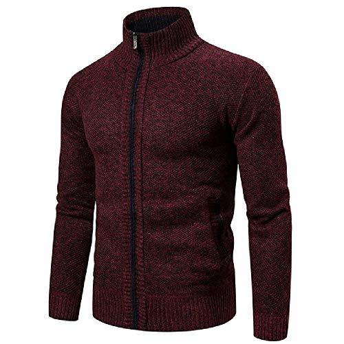 Los hombres Suéteres Otoño Invierno Caliente Suéter Chaquetas Cardigan Abrigos Ropa Masculina Casual