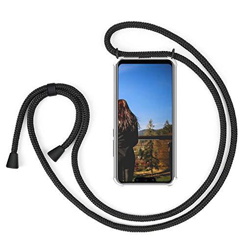 XCYYOO Handykette Handyhülle mit Band für Huawei Mate 20 Lite Cover - Handy-kette Handy Hülle mit Kordel zum Umhängen Handyanhänger Halsband lanyard Case / Handy Band Halsband Necklace