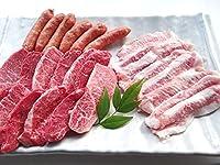 黒毛和牛 メス牛 限定 赤身 と 上カルビ ・ 豚トロ BBQセット 800g