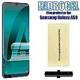 OcioDual Protector de Pantalla TPU Hidrogel para Samsung Galaxy A50 Flexible Membrana Lámina Protectora Cubierta Antiarañazos