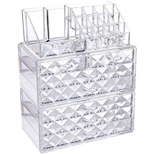 Ikee Design Acryl-Aufbewahrungsboxen für Schmuck und Kosmetik / Make-up