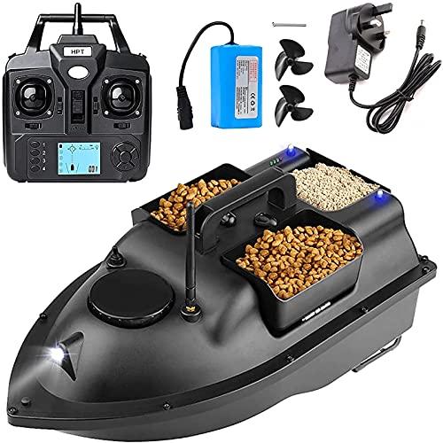 RC Barca Telecomandata Esca da Pesca con GPS per Lago e Piscina 3 Tramogge per Esche Barchino Carpfishing Professionale per Appassionati e Pescatori