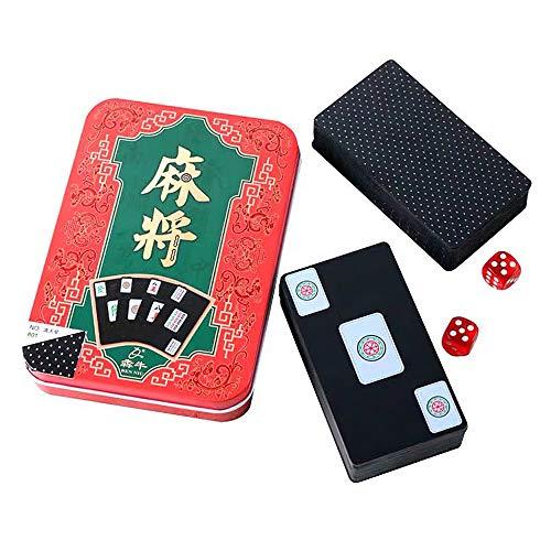 高級感のある 麻雀牌 麻雀 卓上ゲーム ポータブル トランプ 静かに カード牌 携帯 卓上ゲーム サイコロが2個付く テーブルクロス 旅行カード 静かに 防水 おしゃれ