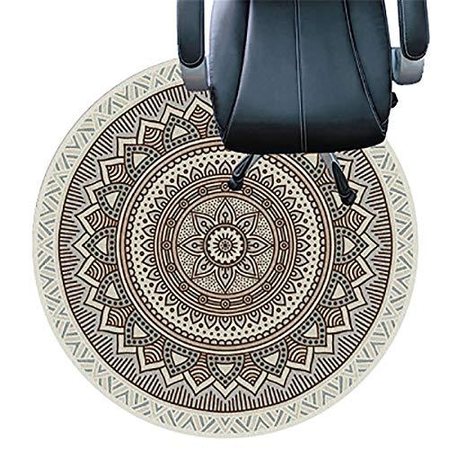 WSC Tapete para Escritorio, Tapete para Silla De Oficina, Adecuado para Pisos De Madera, Sillas Que Se Deslizan Fácilmente, para Protección De Piso Duro, Tapetes Transparen(Size:120cm(47in),Color:mi)