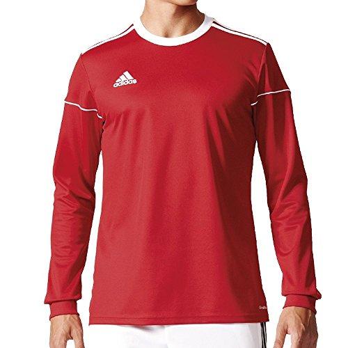 adidas Herren Squad 17 JSY LS Long Sleeved T-Shirt, Power red/White, 910Y