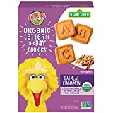 Earth's Best Organic Cookies, Toddler Snacks, Oatmeal Cinnamon, Sesame Street Letter of the Day Cookies, 5.3 Ounce
