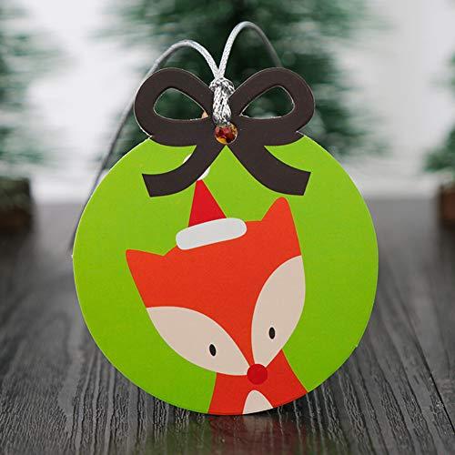 DishyKooker 20Pcs Weihnachtsserie etikettiert das Papiergeschenk-Aufkleber-Backen, das dekorative Gruß-Karte einwickelt Fuchs Haushalt