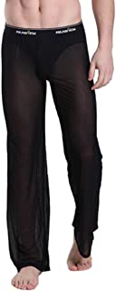 Mendove Mens Mesh See Through Home Lounge Pants Nightwear