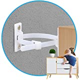 KIDDIESSENTIALS Furniture Wall Anchors (10 Pack) for Baby Proofing, Heavy Duty Anti Tip Straps of Nylon 6T Material with Bracket