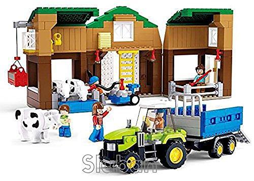 Sluban Cow Farm - 513 Pieces in Original English Box 100% Compatible - Educational Toy - Building Bricks Construction Series M38-B0561 Building Brick Educational Toy