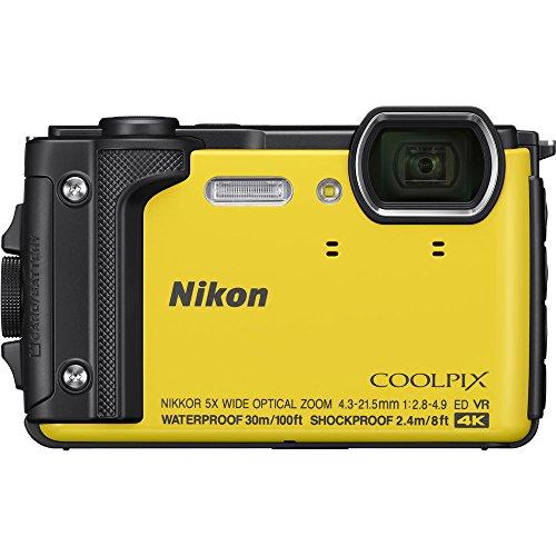 Nikon COOLPIX W300 16MP 4k Ultra HD Waterproof Digital Camera (Yellow) 26525B - (Renewed) Alaska