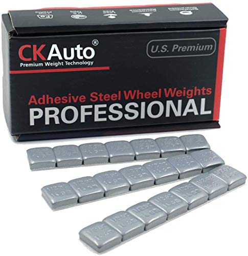 1/2oz, 0.5oz, Grey Adhesive Stick on Wheel Weights, Easy Peel, US Quality, 63 oz/Box (126pcs)