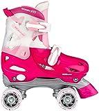 Nijdam Rollerskates pour Fille réglable, Fille, 52SD, Fuchsia/Rosa/Silber, 30-33