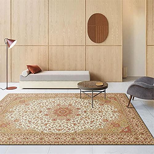 alfombras de Salon alfombras Infantiles niña Alfombra Retro Sala de Estar Rectangular Decoración de Dormitorio Suave y cómoda alfombras de Pasillo 120X160CM 3ft 11.2' X5ft 3'