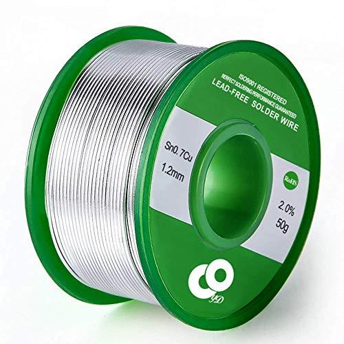 Lötdraht 1,2 mm Zinnblei Kolophoniumkern Lötdraht für elektrische Löten und DIY (50 g)