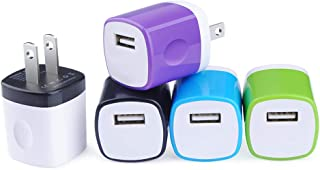 USB Wall Charger, Charger Block, 5-Pack USB Charger One Port Phone Charging Box Compatible with iPhone Xs Max/Xs/XR/X/8/7/6 Plus/5S/4S, Samsung Galaxy S10/S10e S9/S8/Plus, LG, Kindle, Android Phone