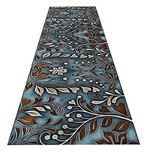 Langer Flur Halle Läufer schmale Teppiche Moderne Einfachheit Runnerteppich, Home Wear-Resistente Korridor-Eingang Teppiche, schmaler niedriger Florbereich Bodenmatte, individuelle Länge Mode