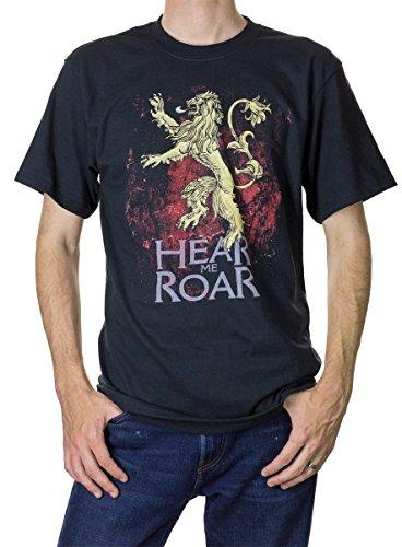 Game of Thrones Men's T-Shirt (Lannister (Black), Large)