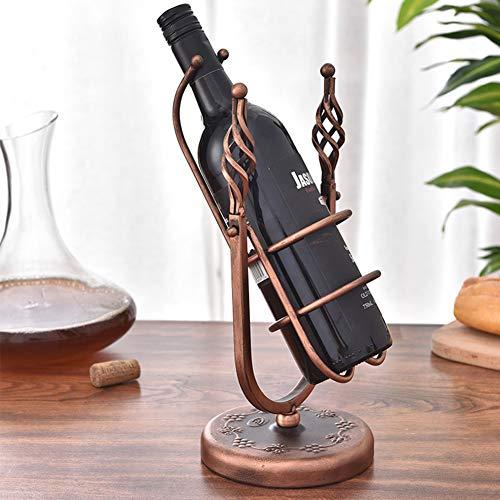 Gymy Columpio pequeño estante de vino estilo europeo de hierro estante de vino artesanía