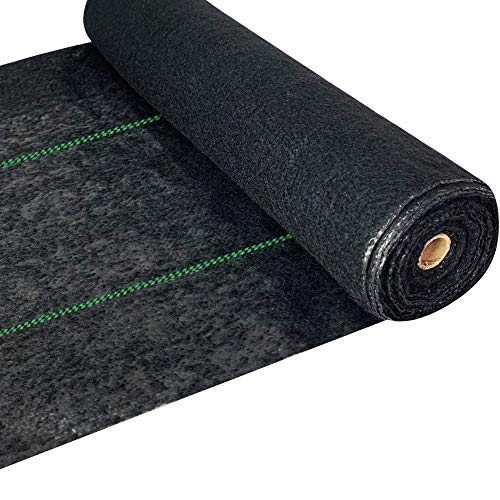 WAENLIR 5.8oz Heavy Duty Weed Barrier Landscape Fabric Premium Ground Cover Weed Cloth Durable Driveway Weed Block Gardening Mat, Outdoor Garden Lawn Fabric mat 4ft x250ft