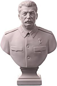 "danila-souvenirs soviética Ruso URSS líder Joseph Stalin mármol Busto Estatua Escultura 6.3""Color Blanco"