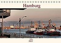 Hamburg Hafen (Tischkalender 2022 DIN A5 quer): Stimmungsvolle Bilder von Schiffen und der Elbe aufgenommen im Hamburger Hafen (Monatskalender, 14 Seiten )