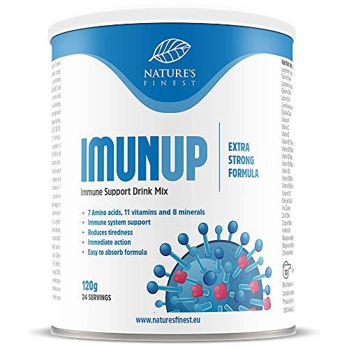 IMUNUP 120 g | Getränk-Rezeptur | 7 Aminosäuren, 11 Vitamine und 8 Mineralstoffe zur Stärkung des Immunsystems | Zuckerfrei