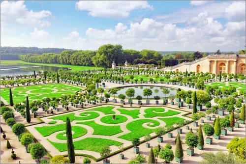 Tableau sur toile 30 x 20 cm: Palace Versailles, Royal Orangery Paris de Editors Choice - Reproduction prête à accrocher, toile sur châssis, image sur toile véritable prête à accrocher, reproductio...
