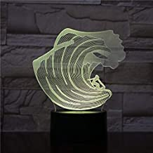 3D Night Light Multicolor Sea Wave 3D Lamp with   Operated by Kids Optical 3D Night Light Lamp