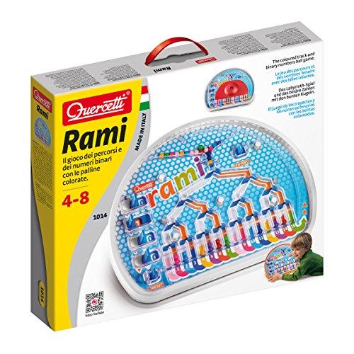 Quercetti- Rami Gioco con Palline Colorate, Multicolore, 827009