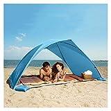 qazwsx Tenda da Spiaggia Estiva,Tendalino Portatile Leggero,Tenda da Sole da Esterno da Giardino ,Tettuccio Parasole Facile da Installare,Ombrellone da Spiaggia Premium (Color : Blue)