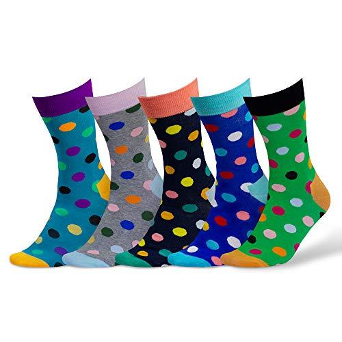 Damen & Herren bunte Socken (5 Paar) (4. Mix)