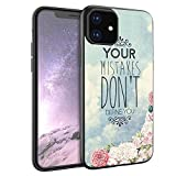 Your Mistakes Don't Define You iPhone 11 Case Protective Phone Shockproof Black TPU Silicone case for iPhone 11