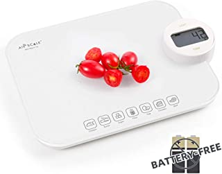 Digital Food Kitchen Scale with Calorie counter in Tempered Glass Battery Free Nutrition Scale Accurate Food and Nutrient Calculator for Body Health Kitchen Scale