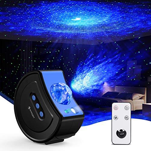 Sternenhimmel Projektor, Galaxy Projector mit Fernbedienung Starry Stern Mond, LED Sternenhimmel Projektor für Kinder Erwachsene, Geschenke für Party Weihnachten Ostern Geburtztag