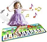 MUSICALES MUSICALES, MÚSICA PIANO TECLADO Piso de baile Estera de animales Alfombra Manta Touch Playmat Educación temprana para la música Teclado Play Mats Alfombra Musical Electrónica piano infantil